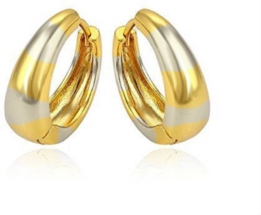 762ffb9d7 Flipkart.com - Buy Gadgetsden Big Kaju Bali's Smooth finish 22K Gold  Two-tone Salman khan Style Stainless Steel Huggie Earring Online at Best  Prices in ...