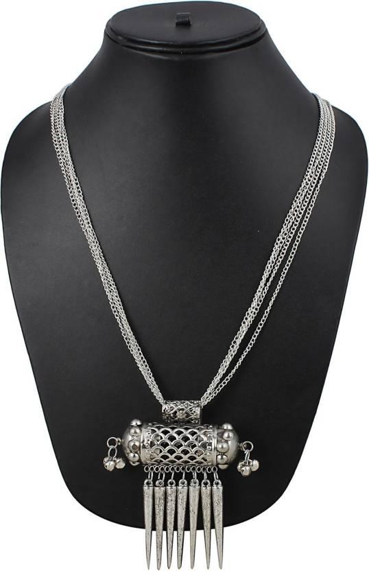4b8b46446 Aradhya Aradhya Afghani Designer Turkish Style Vintage Oxidised German  Silver Tribal Necklace Pandeant Antique Jewellery Set