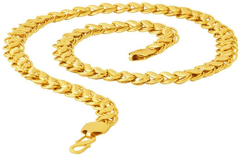 494bcc3bb7be6 Fashion Frill Fancy & Exclusive Lotus Link Chain Design Chain For Men &  Boys Gold-plated Plated Metal Chain