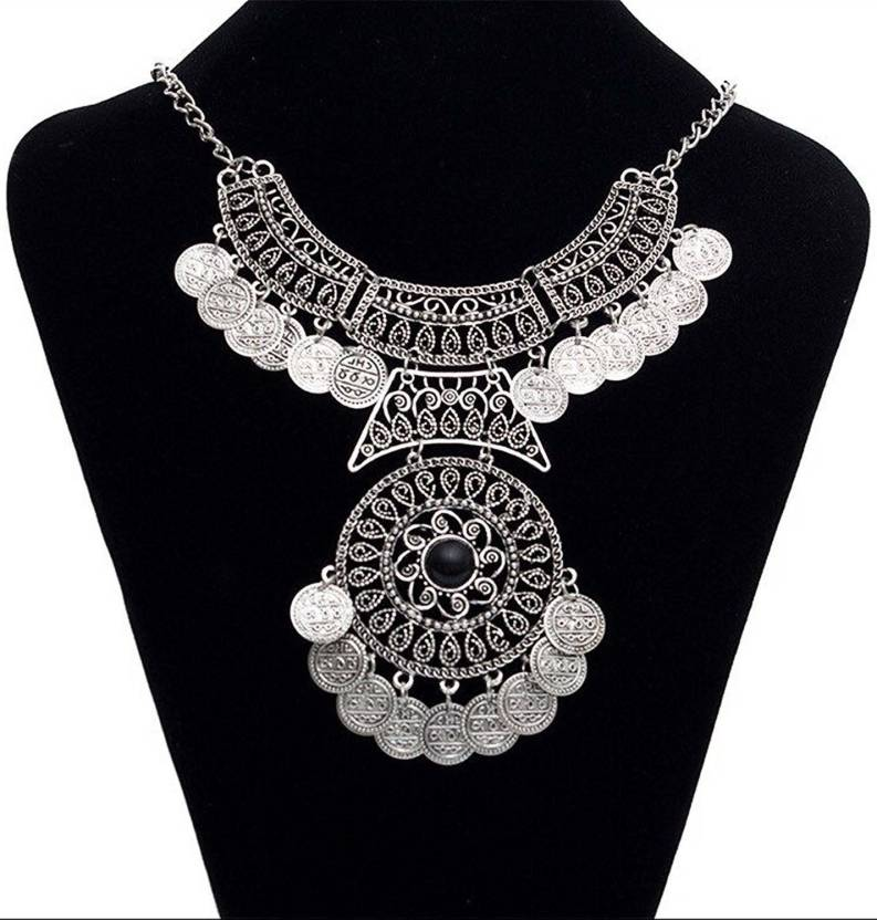 750778e2be Shining Diva Oxidised Jewellery Bohemian Antique Vintage Pendent Coin Party  Wear Necklace Alloy Necklace Price in India - Buy Shining Diva Oxidised ...