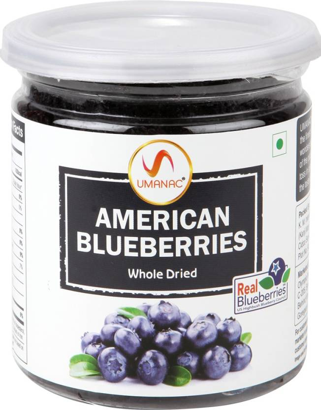 UMANAC American Whole Dried Blueberries 250 gm (Pack of 3