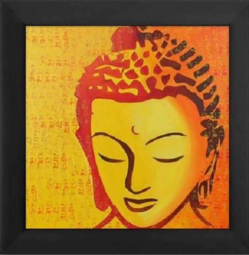 Bath Market Uv Textured Religious Buddha Synthetic Frame Painting
