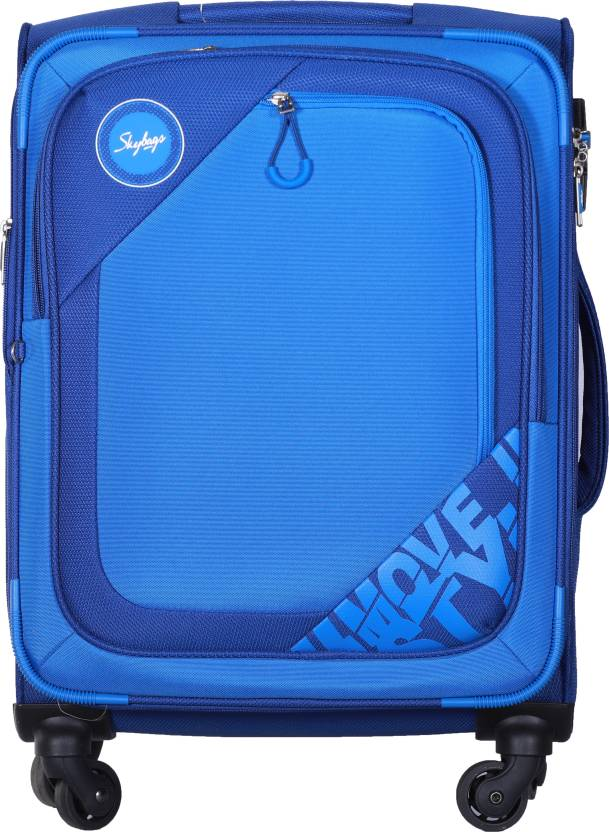 faf030e1b229 Skybags Zumba Spinner Soft Trolley 81 cm (Blue) Expandable Check-in Luggage  - 35 inch (Blue)