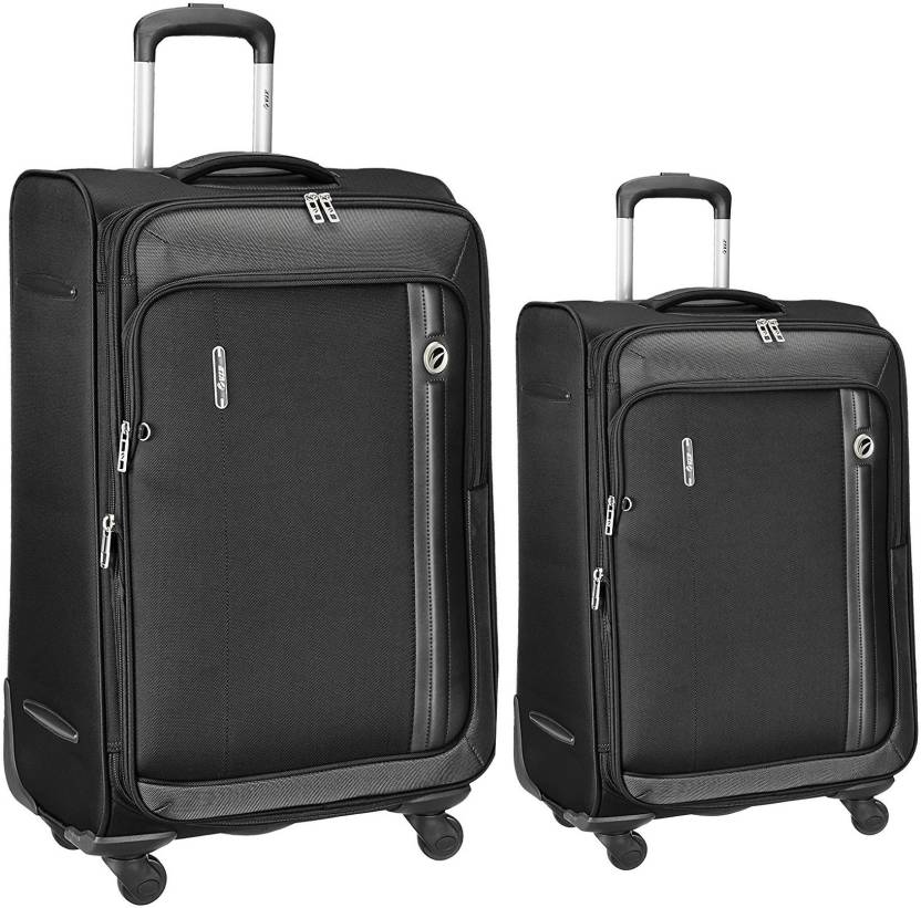 VIP Unicorn x set of 2 bags 68 cms and 56 cms Expandable Check-in Luggage -  27 inch (Black) 99dfe38221
