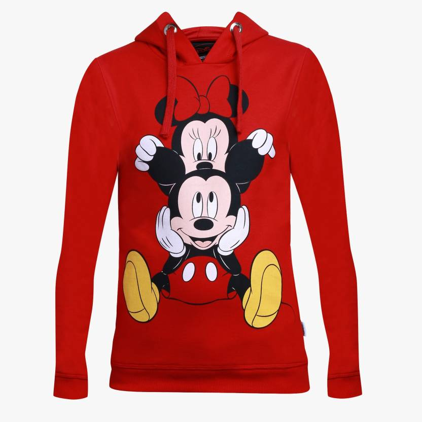 c6d06a6bb Mickey & Friends Full Sleeve Graphic Print Girls Sweatshirt - Buy Red Mickey  & Friends Full Sleeve Graphic Print Girls Sweatshirt Online at Best Prices  in ...