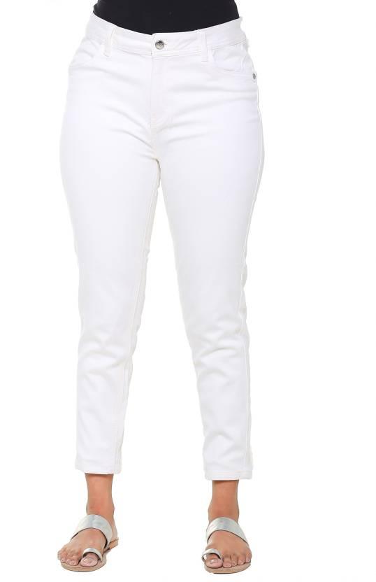 3880f083c27 Twist Regular Fit Women White Trousers - Buy Twist Regular Fit Women ...