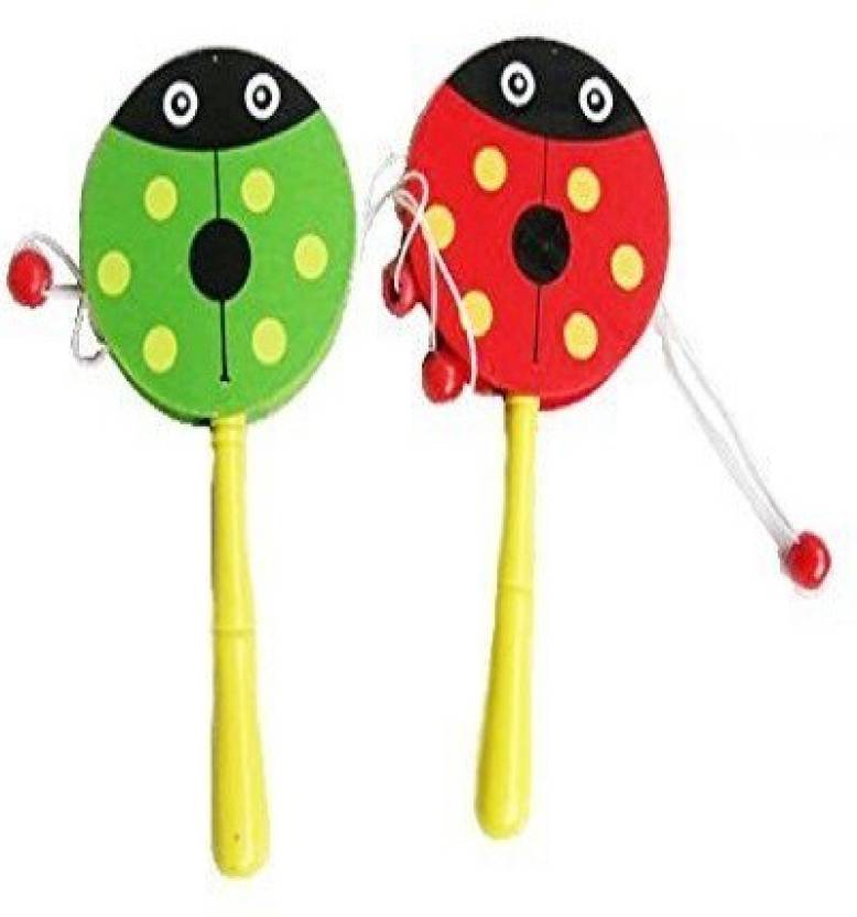 new style b52b9 9caa1 Premsons Wooden Rattle Drum,Cute Baby Kid Cartoon Animal Hand Bell Toy  Musical Instrument Rattle (Multicolor)