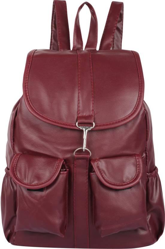 7a3571460605 Rajni Fashion PU Leather Backpack School Bag Student Backpack Women Travel  bag Tuition Bag 8 L