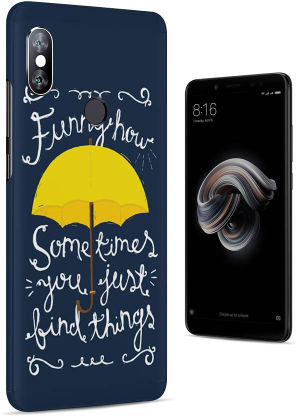 1ea14cdd0 Polymol Back Cover for Mi Redmi Note 5 Pro (Funny How You Just Find Things  - How i met your mother Quote