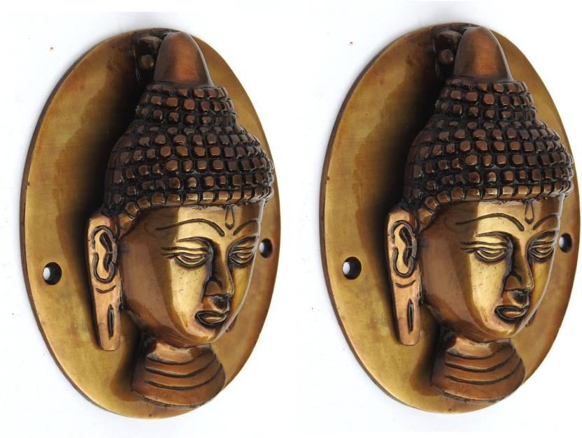 Susajjit Decor Brass Buddha Face Door Knocker
