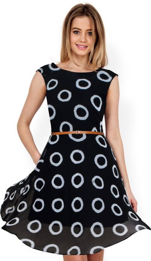 f8651cab8bb39 MMZ FASHION Women High Low Black Dress - Buy MMZ FASHION Women High ...