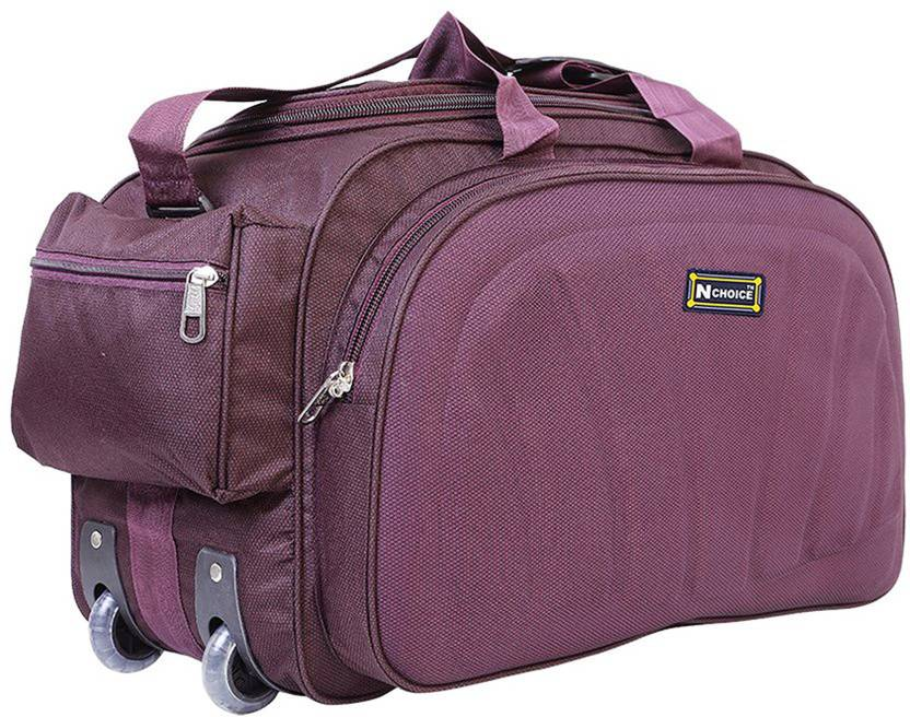 9f84bcd8a7 N Choice (Expandable) Waterproof Lightweight 60 L Luggage Travel Duffel Bag  with Two Wheels(Purple) Travel Duffel Bag (Purple)