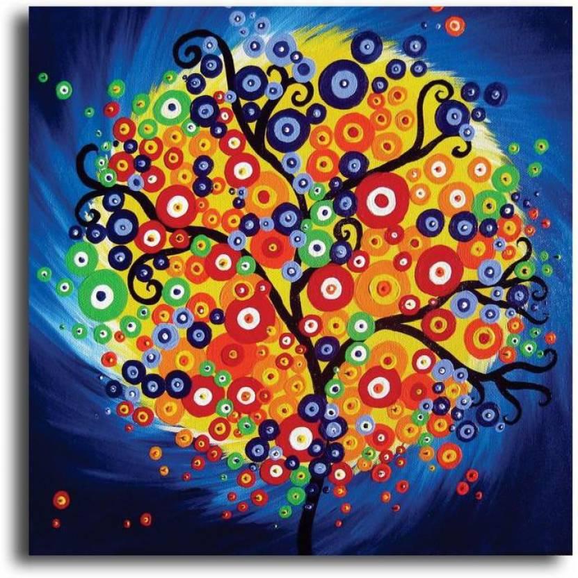 Pixelartz Pixelartz Canvas Painting Tree Of Life Painting 35 X 35