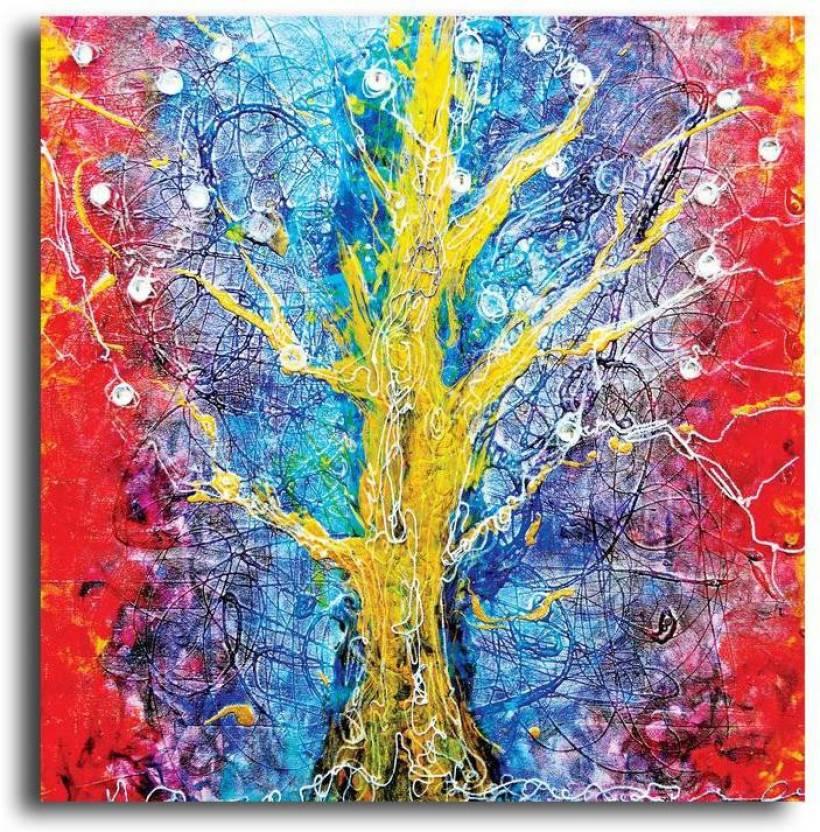 Pixelartz Canvas Painting Goddess Maa Durga 8 X 12