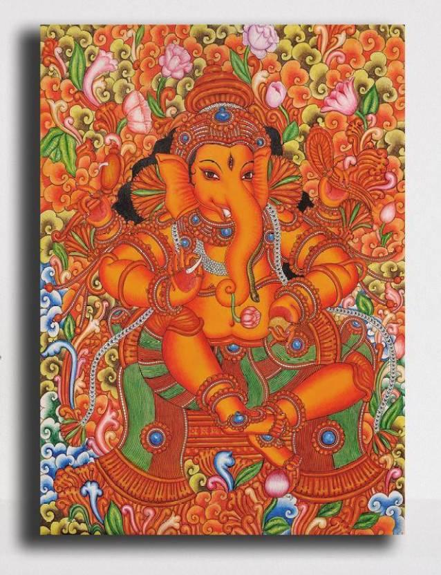 Pixelartz Canvas Painting Maa Durga Modern Art