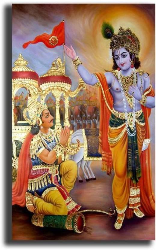 Pixelartz Canvas Painting Shri Krishnas Gita Updesha To Arjuna