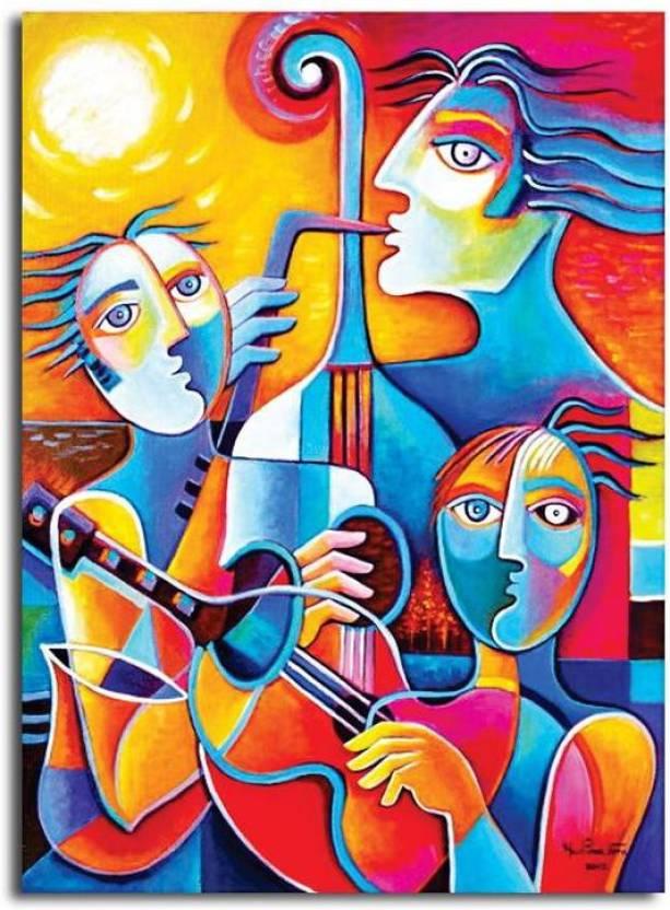 Pixelartz Canvas Painting Cubism Abstract Artwork 12 X 10
