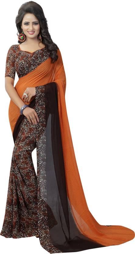 88d944c6143 Buy b4u fashion Printed Daily Wear Georgette Multicolor Sarees ...