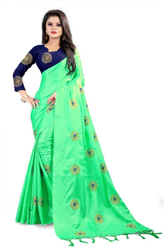 689a4201a Buy surti funda Embroidered Bollywood Silk Green Sarees Online ...