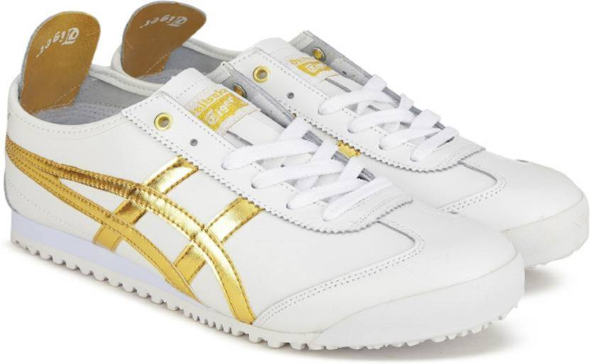 new styles 87a34 b3aa4 Onitsuka Tiger Mexico 66 White Gold Sneakers For Men - Buy ...