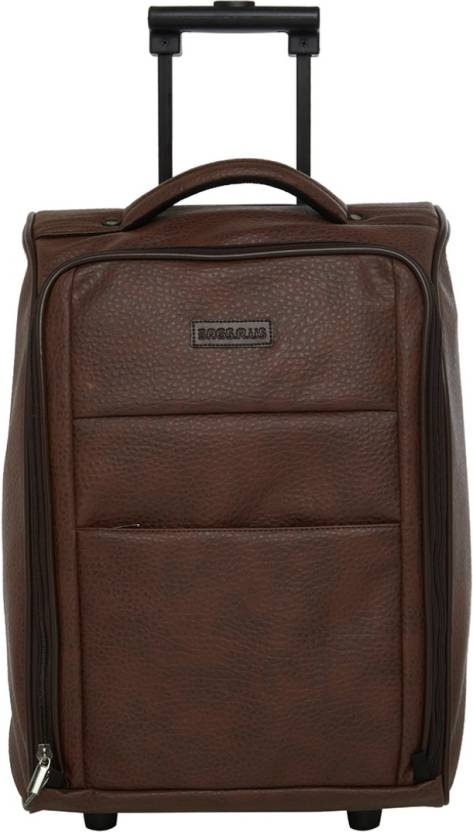 87c5c52f100a Bags R Us Faux Leather Cabin Trolley Bag Small Travel Bag - Medium (Brown)