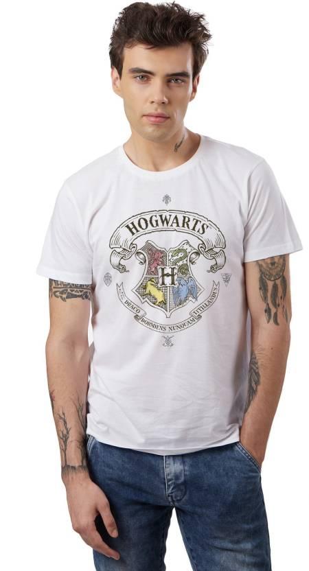 5c612ced2 Harry Potter Graphic Print Men Round Neck White T-Shirt - Buy Harry ...