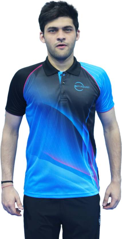 b45fe71ff65 SPINART Sports Jersey Men   Women Polo Neck Blue T-Shirt - Buy SPINART  Sports Jersey Men   Women Polo Neck Blue T-Shirt Online at Best Prices in  India ...