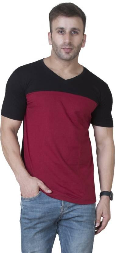 4361dcf2819 Veirdo Solid Men s V-neck Maroon T-Shirt - Buy Veirdo Solid Men s V ...