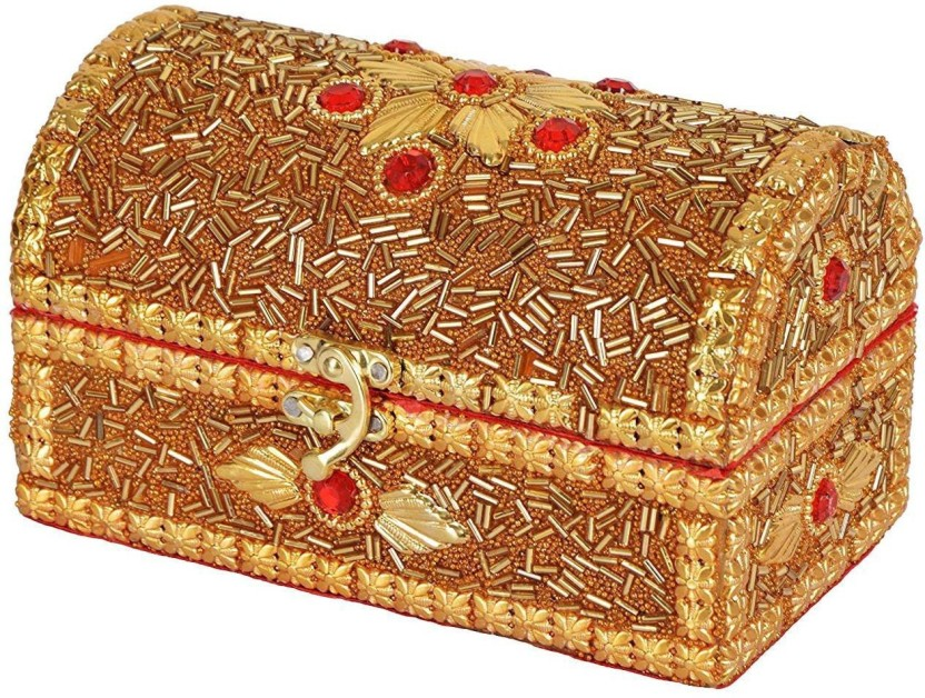 Luxury Antique Gold Indian Bangle Jewellery Storage Box