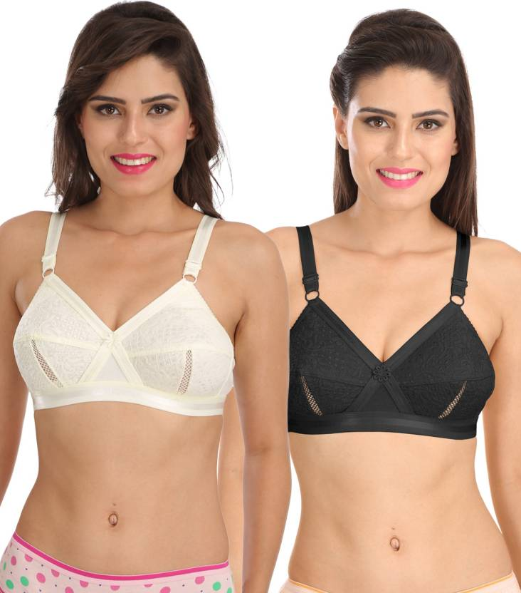 3eee820f11f1d9 Sona bySona Everyday Plus Size Cotton Full Coverage Non Wired