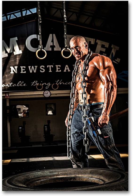 Gym Posters - Gym posters motivationa - big size – 18 inches x 12