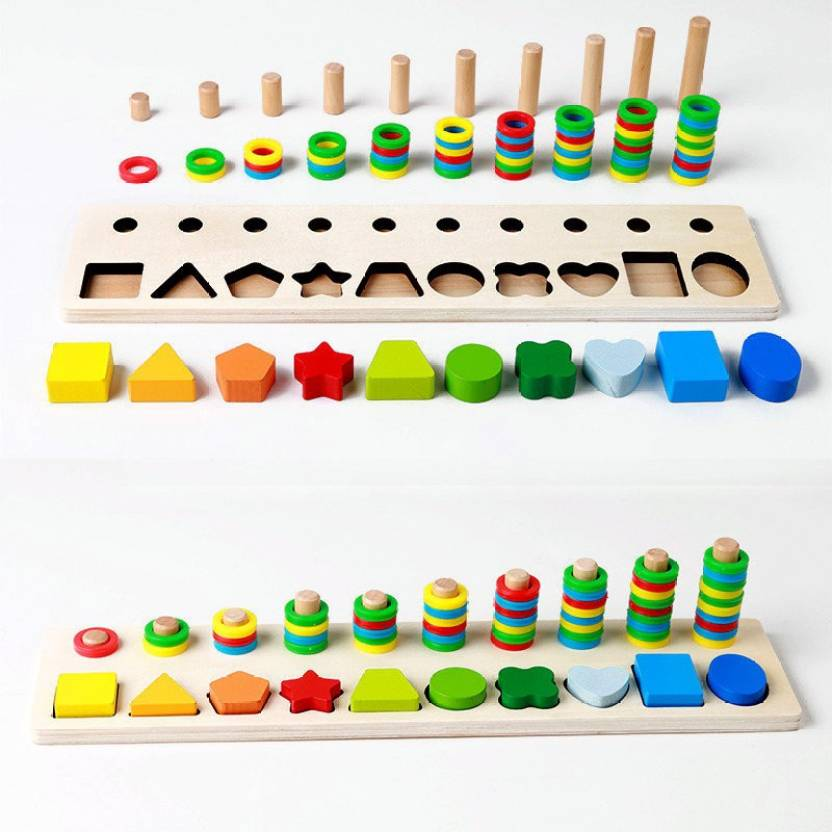 SN toy zone High Quality Wooden Big Geometric Shapes and