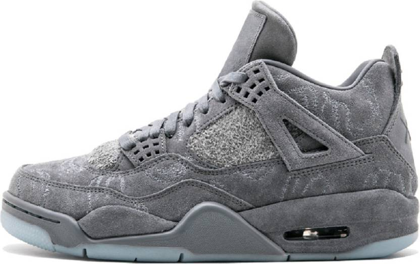 new style 63c51 e37c5 Air Jordan 4 Retro Kaws Running Shoes For Men (Grey)