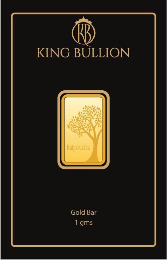 King Bullion Kalpvruksha Precious Gold Bar 1 Gm 24 999 K G