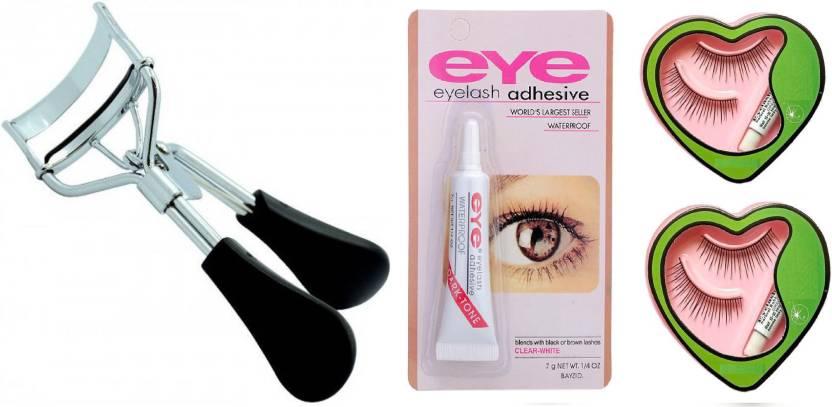 Elecsera Combo Of Eyelash Curlerwaterproof Eyelash Glue And False