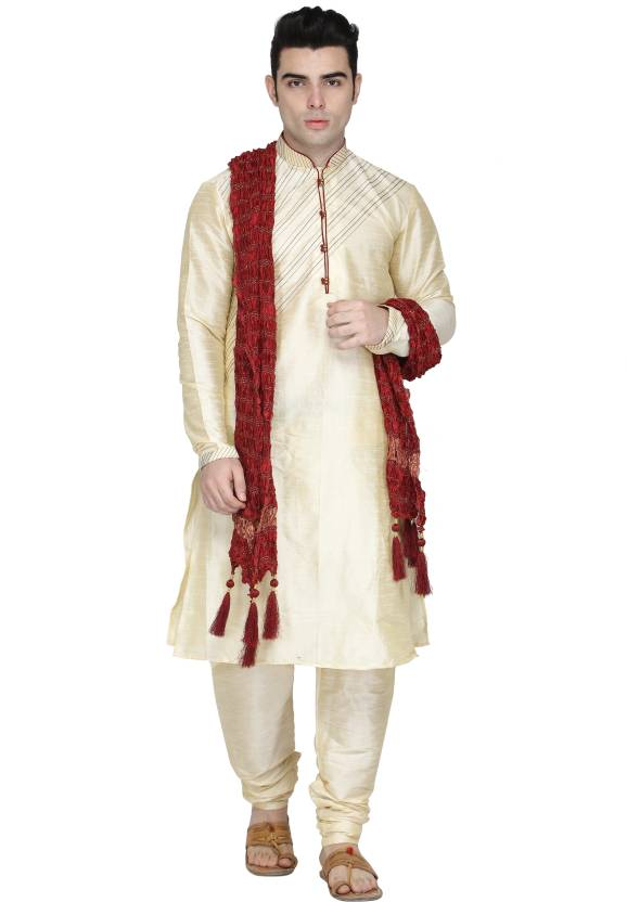 7174f7c3f7 SKAVIJ Men Kurta, Pyjama & Dupatta Set - Buy SKAVIJ Men Kurta, Pyjama &  Dupatta Set Online at Best Prices in India | Flipkart.com
