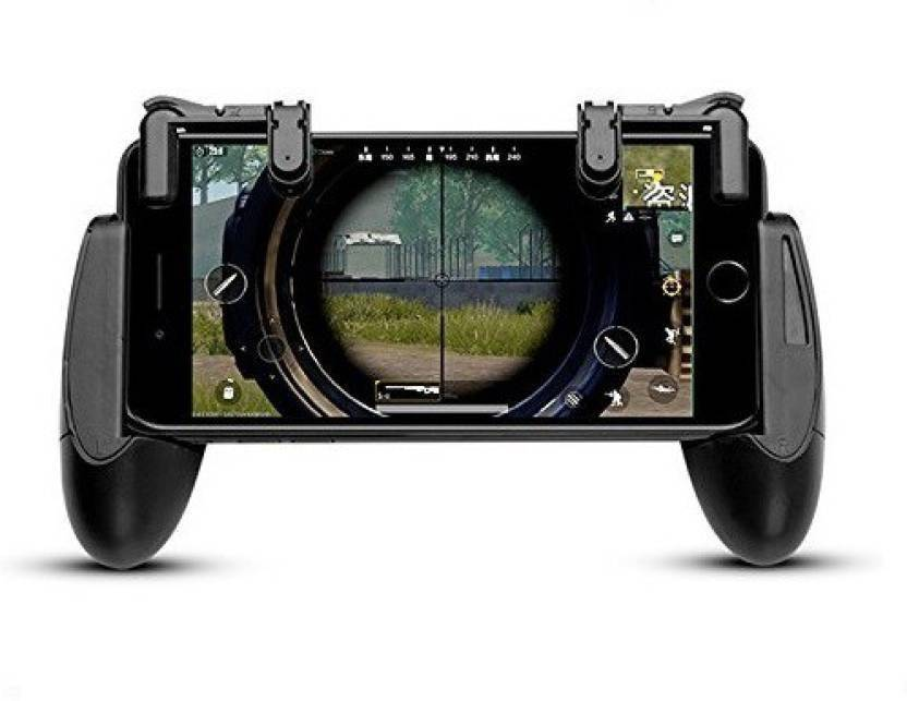 AnyTech Mobile Game Controller Shooter Trigger Fire Button/Handle for PUBG Gaming Accessory Kit  (Black, For iOS, Android)