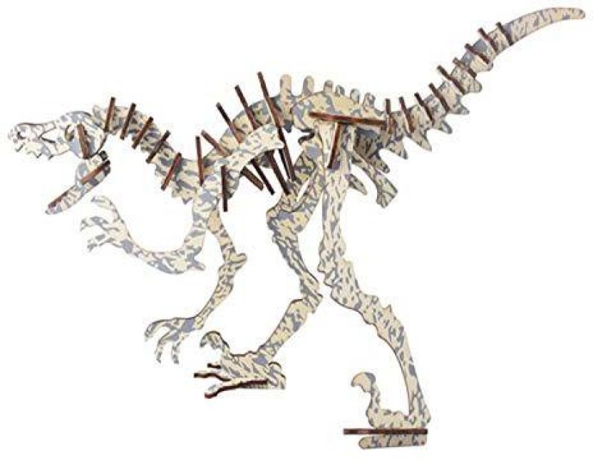 3D Animal Jigsaw Puzzle Wooden Simulation Puzzle Dinosaur Assembly Puzzle Model Toy for Kids and Adults-Tyrannosaurus