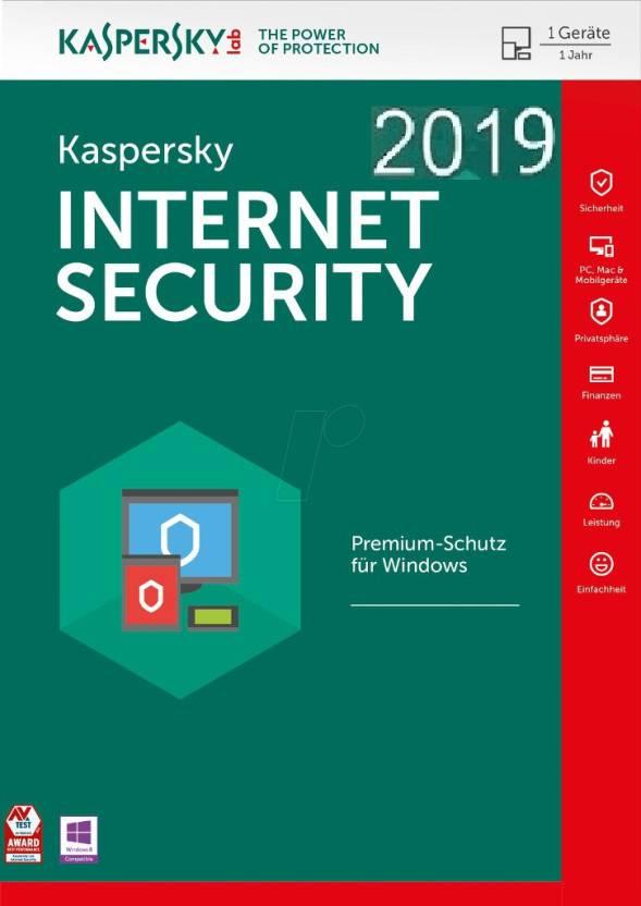 KASPERSKY Internet Security 2018 / 2019 - 1 Pc / 1 Year / 1 User [1