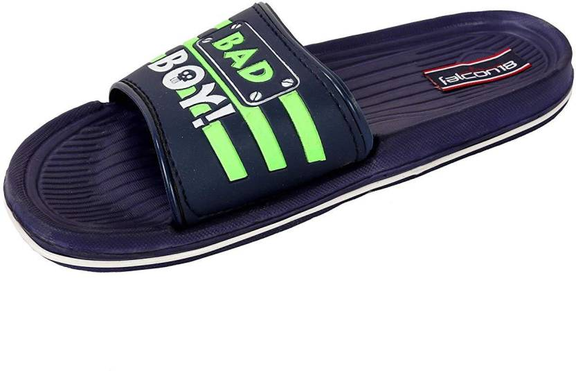 84508e1b97ba4e Falcon18 Men s Sliders Shower Pool Sandals Anti-Slip Rubber Bath Slippers  Indoor Floor Hard Rubber