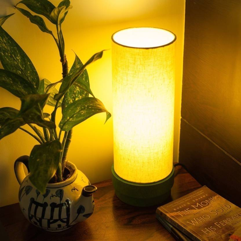 Exclusivelane 14 Inch Wooden Table Lamp Price In India Buy