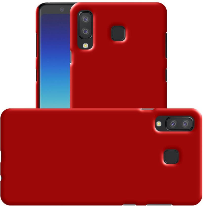 Case Creation Back Cover for New Samsung Galaxy A8 Star (2018) (Dark Maroon Red, Hard Case, Polycarbonate)