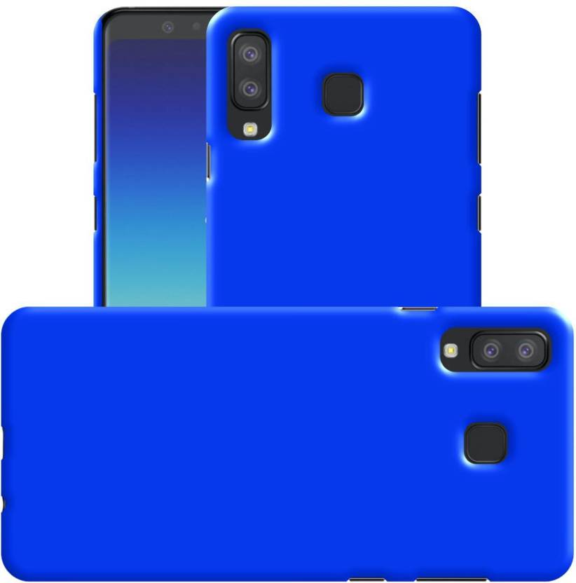 Case Creation Back Cover for Samsung Galaxy A8 Star 2018 (Pure Royal Blue, Grip Case, Rubber)