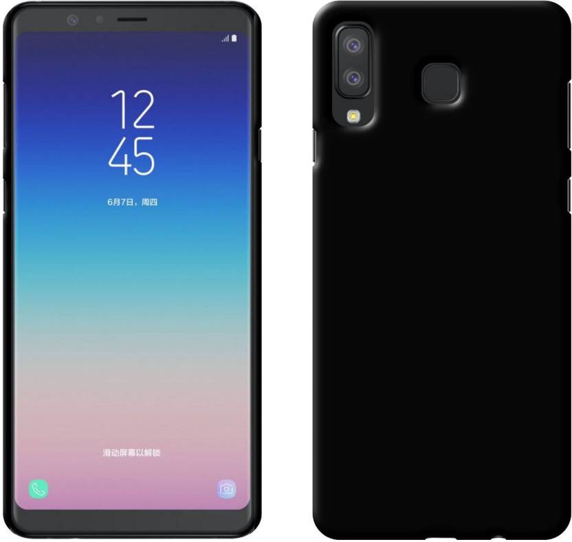 Case Creation Back Cover for New Samsung Galaxy A8 Star (2018) (Real Matte Black, Hard Case, Polycarbonate)