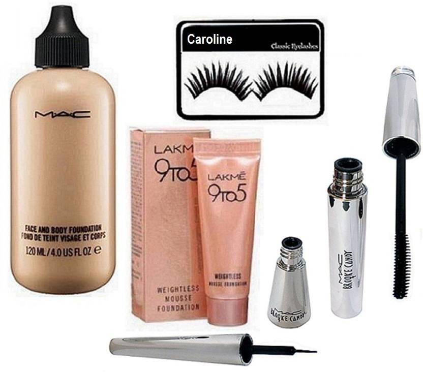 Caroline Eyelashes Face Body Foundation Liquid Eyeliner