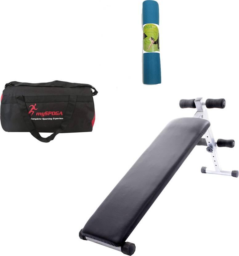 7dec8f7c7c44 Lifeline Abdominal Bench 310 Bonus with Gym Bag and Yoga Mat Home Gym Combo  (100 - 120 kg)