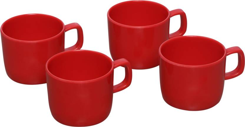 Flipkart SmartBuy Pack of 4 Melamine Tea/Coffee Mug  (250 ml, Pack of 4)