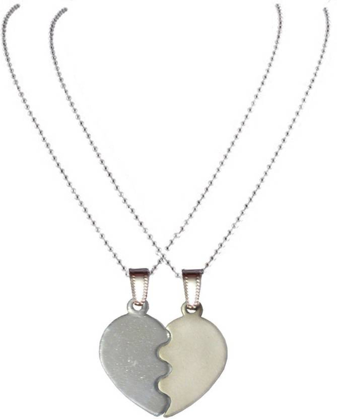 00bc5c5ea6 Men Style Top Selling Couple His And Her Broken Heart Shape Necklaces  SPn08012 Zinc Pendant Set Price in India - Buy Men Style Top Selling Couple  His And ...
