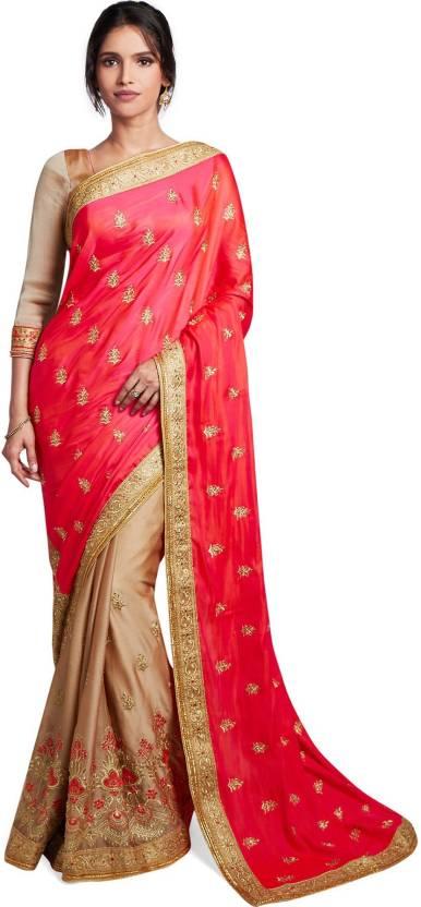 22805046785 Soch Embroidered Fashion Silk Saree (Pink