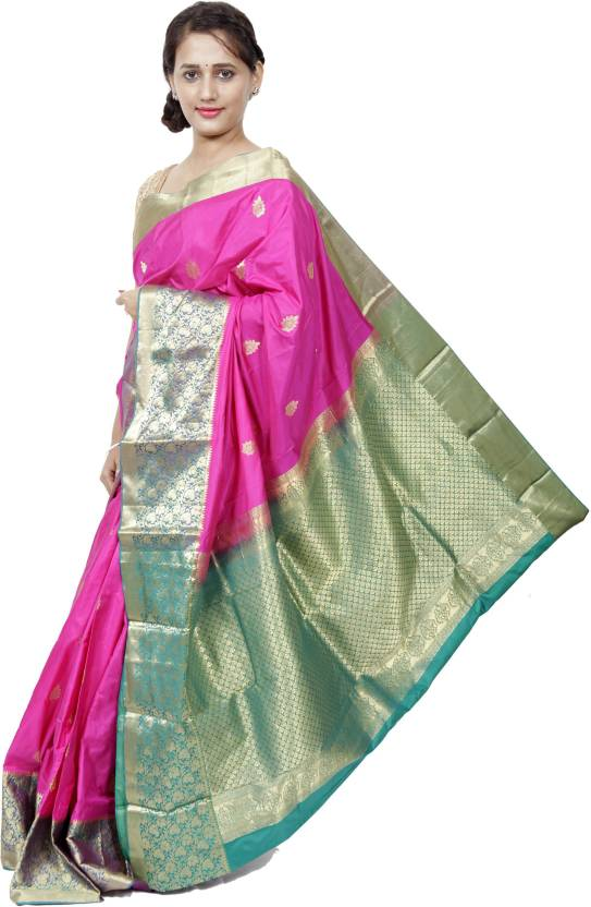 1ab244d86e1834 Buy Silk Divine Woven Fashion Pure Silk Pink Sarees Online   Best ...